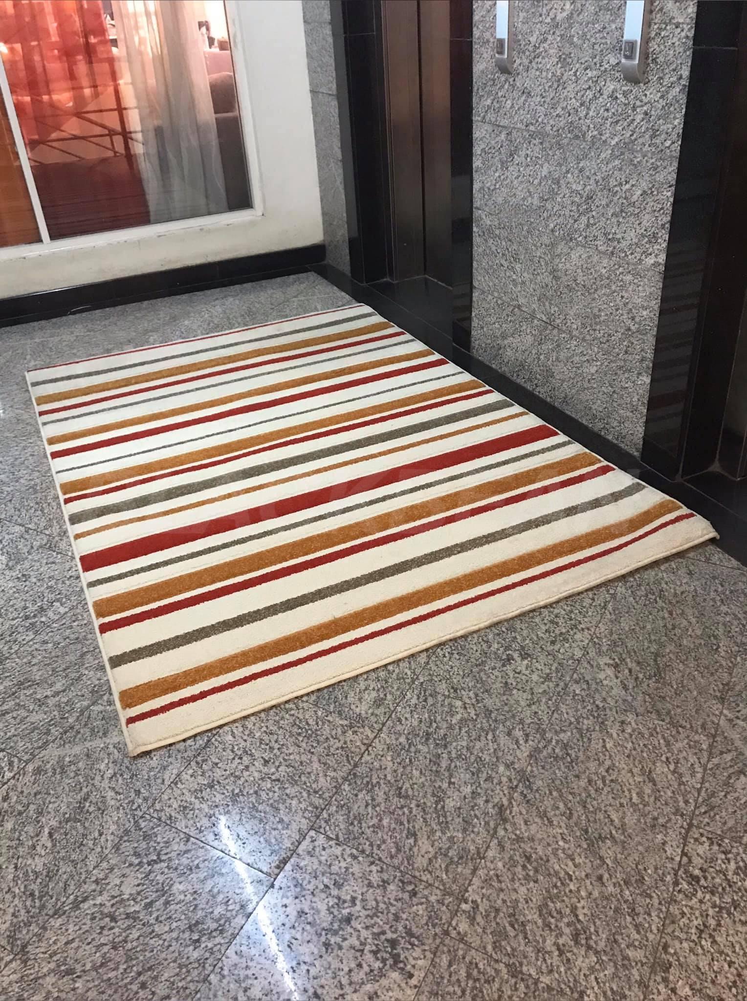 Multi colored carpet