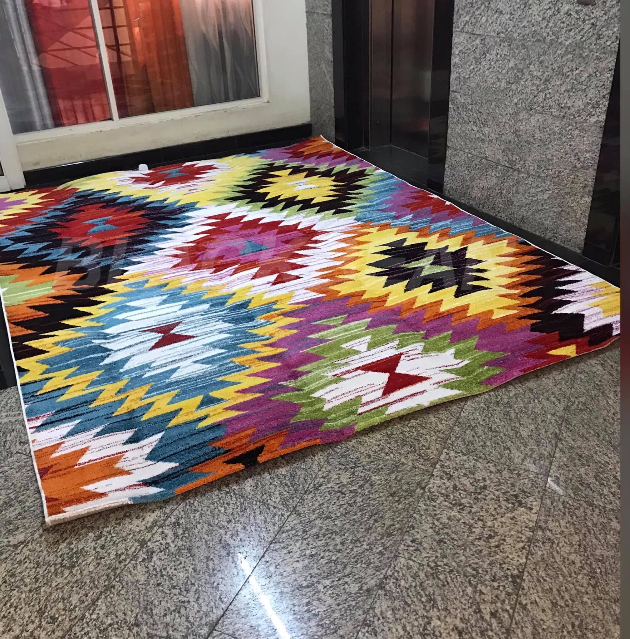 Multi-colored carpet