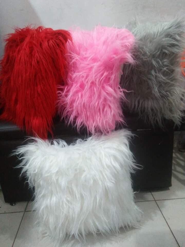 Fluffy sofa cushions
